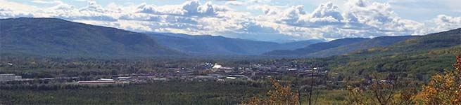 Panorama of Chetwynd and surrounding mountains
