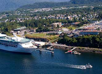 Aerial view of Prince Rupert, BC