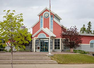 Town Hall in Tumbler Ridge, BC